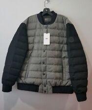 UGG Australia Gavin Wool Down Bomber Jacket Men's Size 2XL Heather Gray