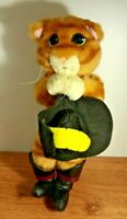 dreamworks Shrek Puss in Boots Plush Soft Stuffed Doll Toy 13""