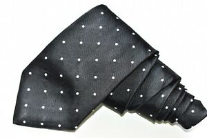 """BROOKS BROTHERS MAKERS DOTS/BLACK Men's Neck Tie W: 3 1/2"""" by L:60"""""""
