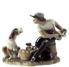 "LLADRO ""This One's Mine"" Porcelain Boy With Dog And Puppies  Figurine 5376 MINT!"