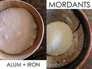Natural Dye Mordant Set of 2 - ALUM 50 grams + IRON 25 grams - Free Shipping USA