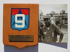Original South Vietnamese 9th Infantry Division Award / Plaque MAC Advisor