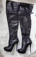 Du Monde high heels over the knee thigh overknee stiletto boots 36,5 6,5
