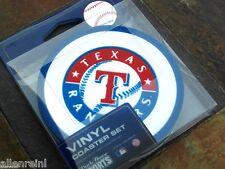 1 - 4 Pack Vinyl Drink Coasters - Texas Rangers
