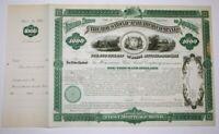 William Henry Barnum, Connecticut Senator Signed Housatonic Railroad Bond 1880 X