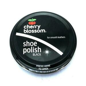 4x Cherry Blossom Shoe Polish 50ml -Traditional-Smooth Leathers - Black Colour