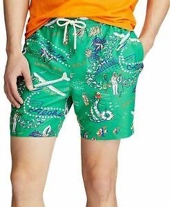 """Polo Ralph Lauren 5.5"""" Traveler Swim Trunks Mens XL Hawaiian Getway $79"""