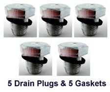 "(5) 1/2"" 20 Single 1x Oversized 3/4"" Hex Drain Plugs & (5) Gaskets RPL 090-015"
