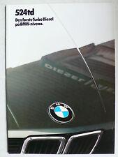 Prospekt bmw 5er e 28 524td, 1.1985, 18 páginas, danés