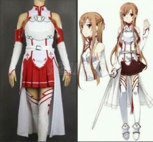 Damen Hot Cosplay Kostüme Set Halloween Anime Sword Art Online SAO Asuna Yuuki
