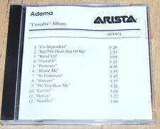 Adema Unstable CD Mark Chavez advance copy CDR Arista nu metal hard rock promo