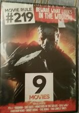 NEW MOVIE RULE #219 BEWARE WHAT LURKS IN THE WOODS DVD 9 HORROR MOVIES 2 DISC
