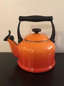 Le Creuset Tea Kettle Flame Orange 2.1 Liter/ 2.2 Quarts