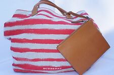 New Burberry Womens Bag Stripes Lauriston Tote Handbag Shoulder Handbag