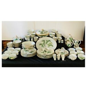 Rare Antique 137 Pcs Chinese Qianjiang Republic Porcelain Dish Set Early 20th C.