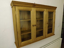 Pine glazed wall unit made by our own carpenters  100cm width