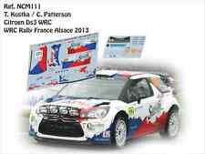DECALS 1/43 CITROËN DS3 WRC -#122 KOSTKA - RALLYE DE FRANCE ALSACE 2013 - NCM090