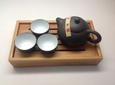 Yixing Purple Clay (Purple Sand) Zisha Teapot Tea Set 5 Pieces