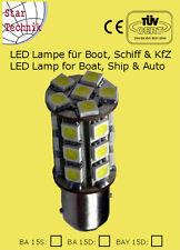 24 SMD LED Lampe BAY-15D für Positionsleuchte Lampeneinsatz  Boot Schiff BAy15 D