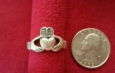 Beautiful Real Sterling Silver Ring Claddag Religious Solid Silver Size 7 C83