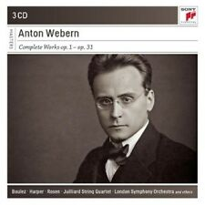 PIERRE BOULEZ - ANTON WEBERN-COMPLETE WORKS: OP.1-OP.31  (3 CD)  NEU