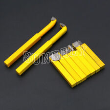 9 Pcs 8mm Carbide Tipped Lathe Metal Cutter Bit Cutting Tool Set Yellow