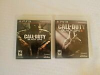 PS3 Call of Duty Black Ops LOT 1 AND 2 Complete with case and manual PlayStation