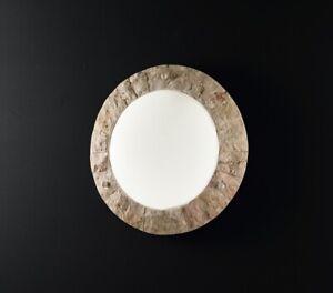 Applique Rotonda in Pietra Rosa Scolpita Perenz 378 R Diametro 42 cm