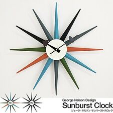 George Nelson Wall Clock Furniture Multi Color Sunburst Reproduct Japan NEW!!