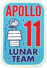 Snoopy  Apollo 11 Space  NASA  1960's Vintage Looking Travel Sticker Decal Label
