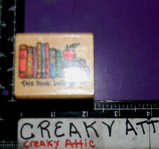THIS BOOK BELONGS TO BOOKS RUBBER STAMP ALL NIGHT MEDIA 692E RETIRED