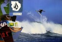 VOLCOM 2004 Bruce Irons surf HUGE air promotional poster Flawless NEW Old Stock