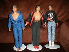1990 BIG STEP SET OF 3 NEW KIDS ON THE BLOCK DOLLS WITH STANDS