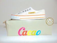 Vintage 90 CACAO Scarpe 36 Tela 3 4 Canvas Sneakers Shoes Bianco White 80