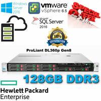 HP ProLiant DL360p Gen8 2x E5-2630 12-Core Xeon 128GB DDR3 2x 600GB SAS P420i/1G