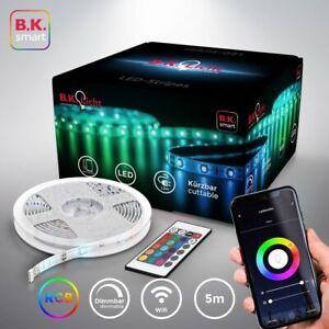 WiFi LED Band 5m Streifen Smart Home APP Lichtleiste RGB dimmbar Stripe 230V SMD