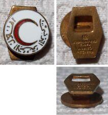 Emailliertes Reversknopf-Abzeichen Roter Halbmond Tunesiens Schriftzug Arabisch