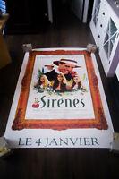 SIRENS  Hugh Grant 4x6 ft Bus Shelter Vintage Movie Poster Original 1994