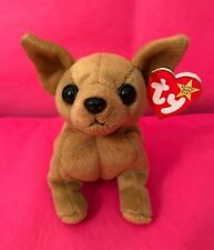 Ty Beanie Baby Tiny The Chihuahua Dog With 3 Errors *Rare*, Excellent Condition!