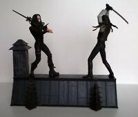 Figurine THE CROW Eric Draven Vs Top Dollar - Action Figure NECA Rooftop battle