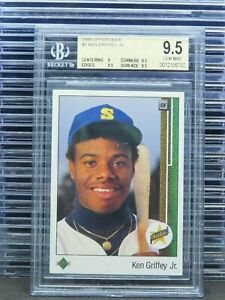 1989 Upper Deck Ken Griffey Jr. Rookie Card RC #1 BGS 9.5 Mariners N73
