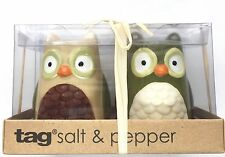 Tag Ceramic Owl Salt and Pepper Shaker Set