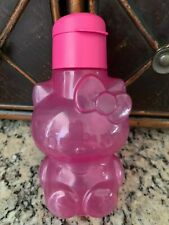 NEW TUPPERWARE PINK HELLO KITTY ECO WATER BOTTLE 14Oz LIQUID TIGHT FLIP TOP SEAL