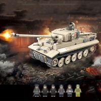 1018pcs Militär Tiger Panzer Tank Modell Bausteine mit DE Armee Soldat Figuren