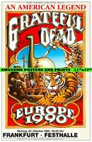 "RARE GRATEFUL DEAD Europe 1990 Without a Net Tour Concert Poster REPRINT 11""x17"""