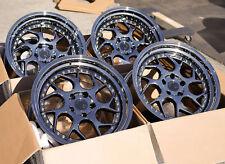 18x9.5/10.5 AodHan DS01 5x114.3 +22 Black Vacuum Rims Aggressive Fits 350z G35