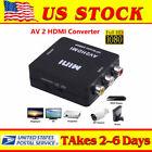Input RCA AV to HDMI Output Displayer Converter Adapter Composite Upscaler Video