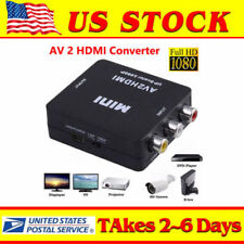 Input RCA AV to HDMI Output Displayer Converter Adapter Composite Upscaler Video