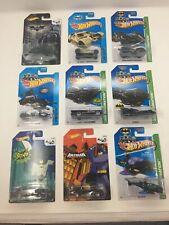 BATMAN Batmobile Batcopter BAT POD TUMBLER Camo THE BAT Hot Wheels ~ Lot Of 9