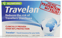 1 x Travelan 30 Caplets ::PREVENT TRAVELLERS DIARRHOEA AND BALI BELLY::